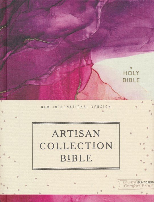 NIV, Artisan Collection Bible, Cloth over Board, Pink, Art Gilded Edges, Red Letter Edition, Comfort Print