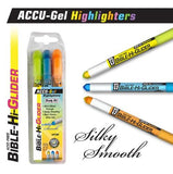 Accu-Gel Bible Highliter 3 Pack Yellow, Blue, Orange