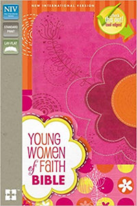 NIV, Young Women of Faith Bible, Leathersoft, Pink/Multicolor