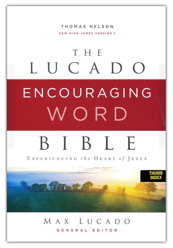 NKJV, Lucado Encouraging Word Bible, Leathersoft, Blue, Thumb Indexed, Comfort Print: Holy Bible, New King James Version Imitation Leather –  Max Lucado