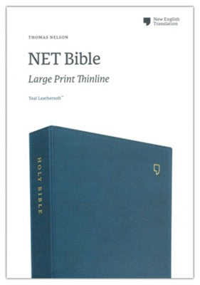 NET Large-Print Thinline Bible--soft leather-look, teal