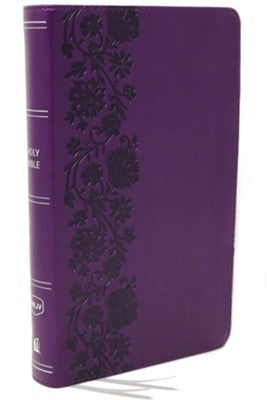 NKJV Compact Reference Bible, Comfort Print--soft leather-look, purple (red letter)