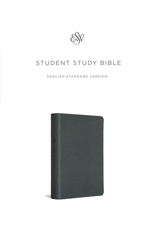 ESV Student Study Bible (TruTone, Gray), Leather, imitation, Grey