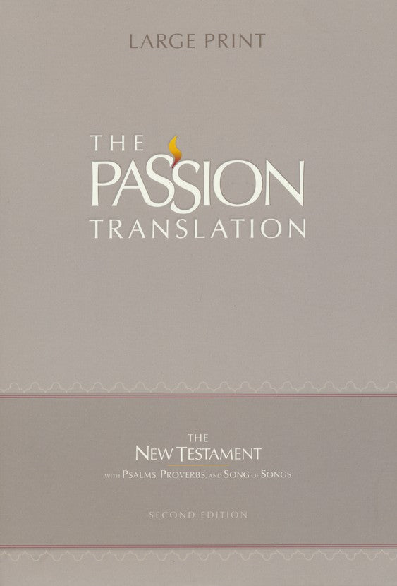 The Passion Translation New Testament, Violet, Large Print (Faux Leather) – In-Depth Bible with Psalms, Proverbs, and Song of Songs, Makes a Great Gift for Confirmation, Holidays, and More