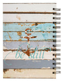 "Christian Art Gifts Large Hardcover Notebook/Journal | Be Still and Know – Psalm 46:10 Bible Verse | Coastal Beach Inspirational Wire Bound Spiral Notebook w/192 Lined Pages, 6"" x 8.25"""