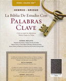 Biblia de Estudio Palabras Claves Hebreo-Griego, Piel Esp. Negra (RVR 1960 Hebrew-Greek Keyword Study Bible, Bon.Leather, Bk.)