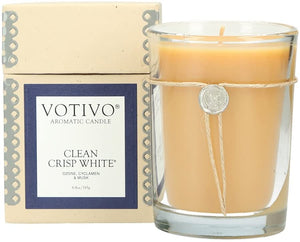 Votivo Aromatic Candle - Clean Crisp White by Votivo