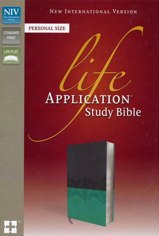 NIV, Life Application Study Bible, Personal Size, Imitation Leather, Gray/Blue, Red Letter Edition