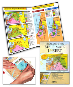 Rose Bible Map Insert fits in the back of your Bible