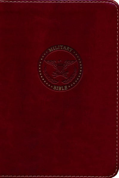 CSB Military Bible, Burgundy LeatherTouch for Marines