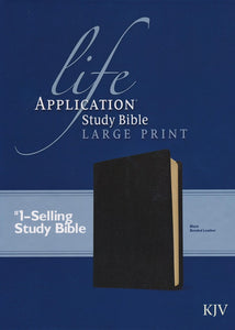 KJV Life Application Study Bible 2nd Edition, Large Print , Bonded Leather, Black