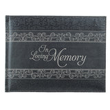 n Loving Memory Guest Book - Memorial Guest Book in Padded Faux Leather w/ Debossed Cover Design - Condolence Book, Funeral Guest Book, Memorial Sign-in Book for Funerals & Memorial Services