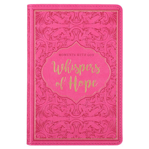 Whispers of Hope Devotional--Lux Leather, Pink