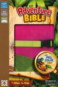 NIV Adventure Bible, Italian Duo-Tone, Clip Closure, Pink/Green