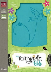 NKJV Faithgirlz Bible--soft leather-look, Caribbean blue