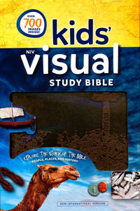 NIV, Kids' Visual Study Bible, Leathersoft, Bronze, Full Color Interior: Explore the Story of the Bible---People, Places, and History Imitation Leather
