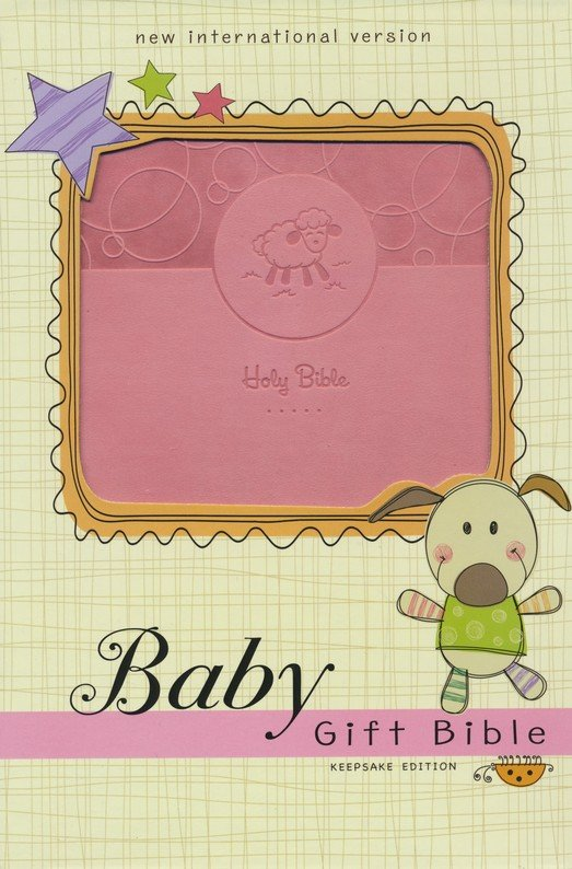 NIV, Baby Gift Bible, Holy Bible, Leathersoft, Pink, Red Letter Edition, Comfort Print: Keepsake Edition Leather Bound