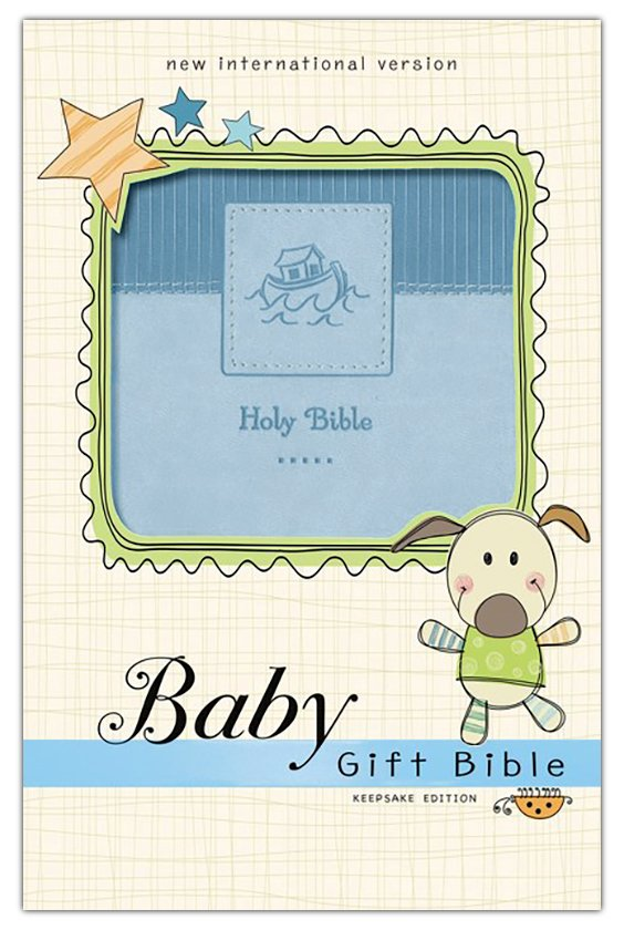 NIV, Baby Gift Bible, Holy Bible, Leathersoft, Blue, Red Letter Edition, Comfort Print: Keepsake Edition Leather Bound