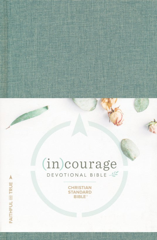 CSB (in)courage Devotional Bible, green cloth over board