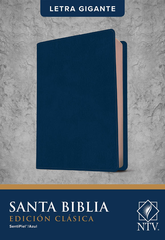 NTV Santa Biblia, Edicion LeatherLike Blue, NTV Holy Bible, Classic Edition--soft leather-look, blue
