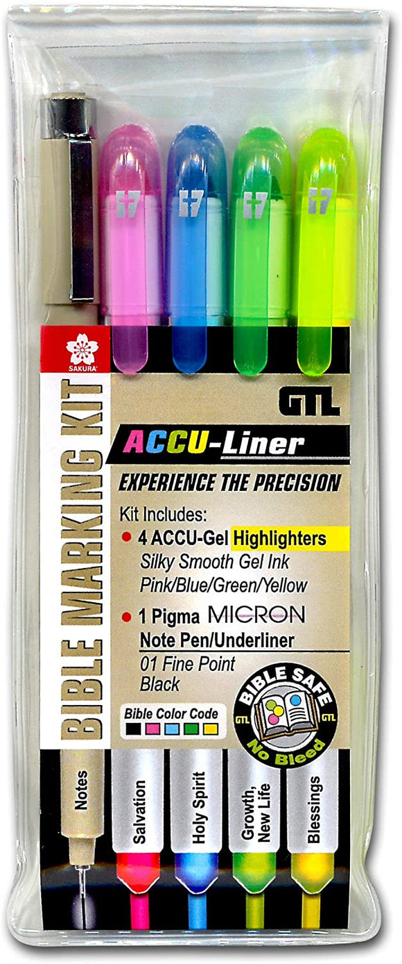 Accu-Gel/Pigma Micron Bible Marking Study Kit (Set of 5)