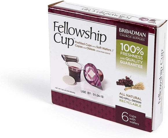 Fellowship Cup - Prefilled Communion Cups - 6 Count Box