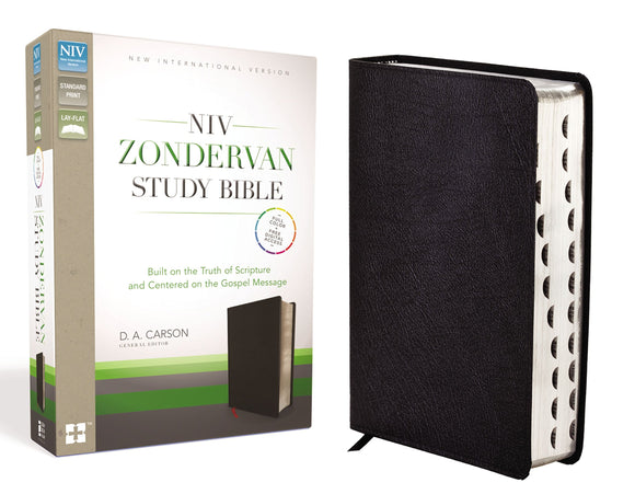 NIV Zondervan Study Bible, Bonded Leather, Black, Indexed