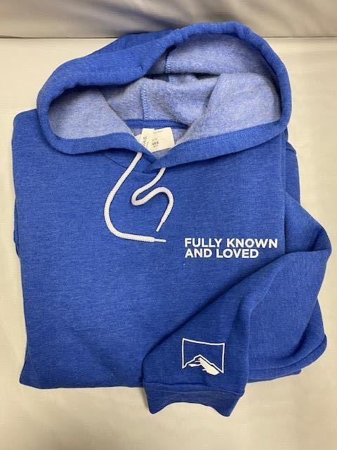 Rock Church Fully Known And Loved Sweat Shirt - Heather Blue - S - 2XL