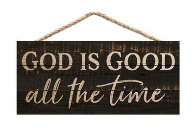 God is Good Hanging Wood