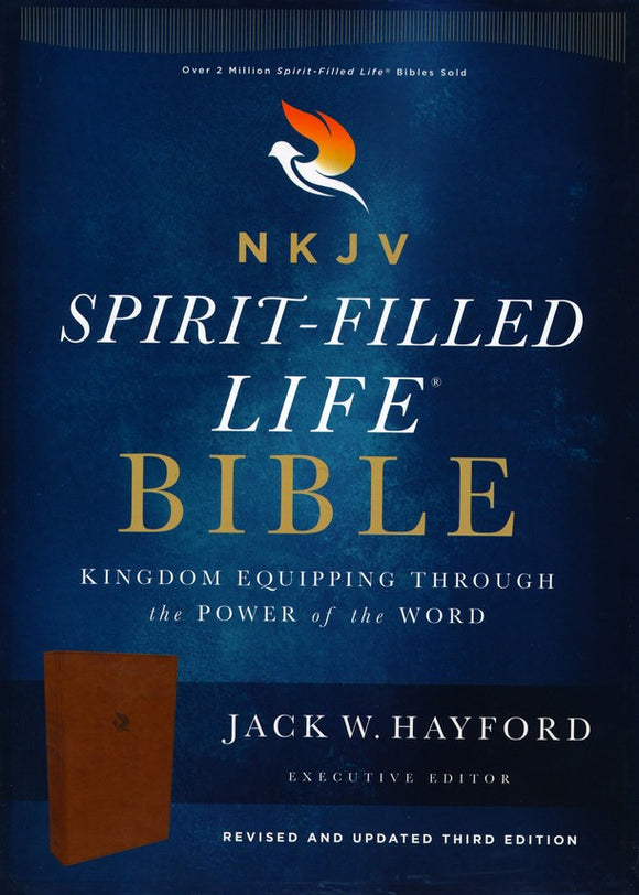 NKJV, Spirit-Filled Life Bible, Third Edition, Leathersoft, Brown, Red Letter Edition, Comfort Print: Kingdom Equipping Through the Power of the Word Imitation Leather