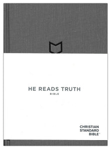 CSB He Reads Truth Bible, Pewter Cloth Over Board, Hardcover with Dust Jacket