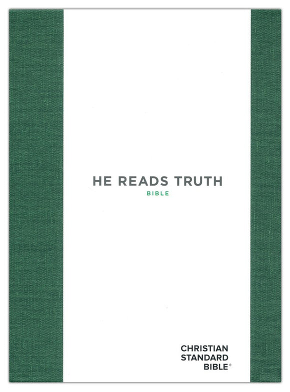 CSB He Reads Truth Bible, Green Cloth Over Board