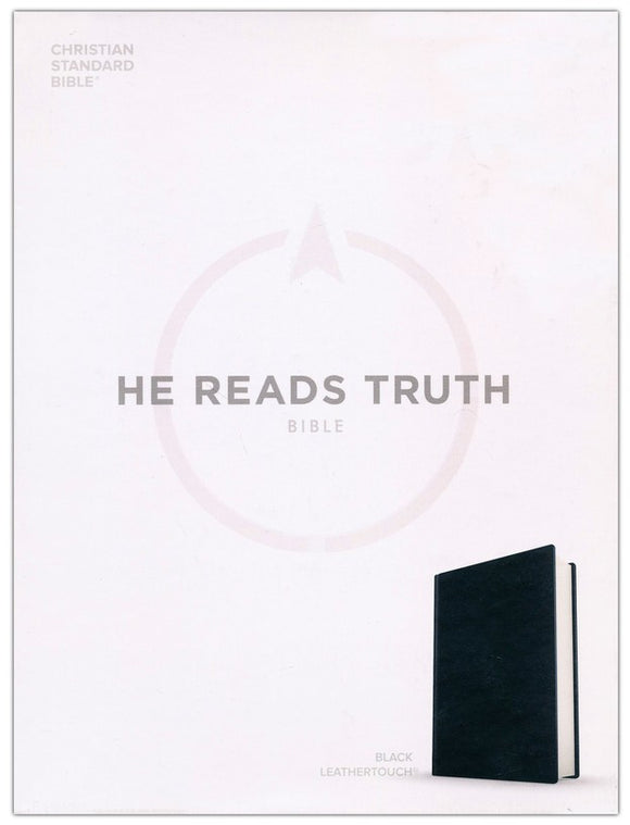 CSB He Reads Truth Bible, Black Leathertouch Imitation Leather