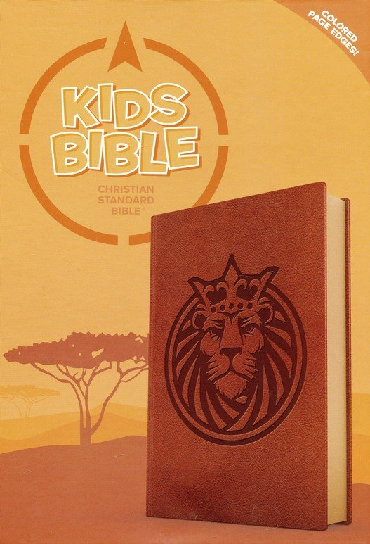 CSB Kids Bible--soft leather-look, brown with lion