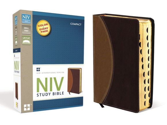 NIV Study Bible, Compact, Leathersoft
