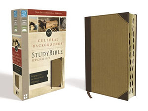 NIV, Cultural Backgrounds Study Bible, Personal Size, Leathersoft, Tan, Indexed, Red Letter Edition: Bringing to Life the Ancient World of Scripture