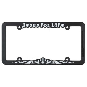 Jesus For Life License Plate Holder