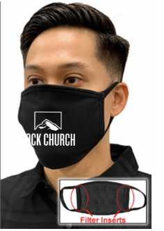 Rock Church Face Mask with Front Logo