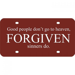 Forgiven License Plate