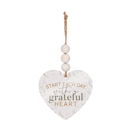 Start Each Day With A Grateful Heart, Beaded Ornament