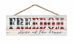 Freedom Home of the Brave Jute String