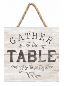 Gather in the Table Hanging Jute Art