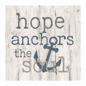 Hope Anchors the Soul Word Block