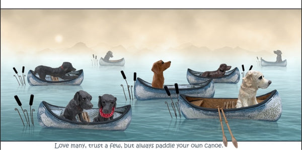 Always paddle your own canoe ( Labrador version )