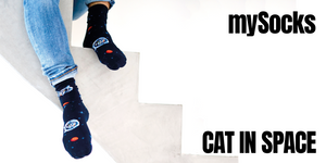 mySocks CAT IN SPACE