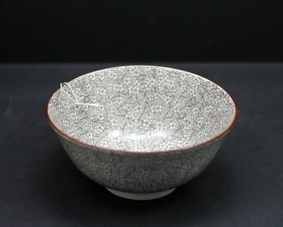 Brown Floral Stoneware Bowl, 6