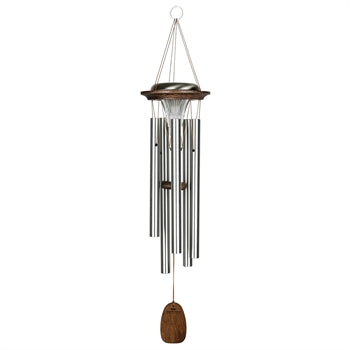 Woodstock Moonlight Solar Chime, Silver