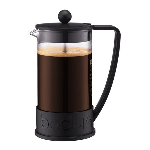 Brazil French Press Coffee Maker, 8 cup, 1.0 l, 34 oz, Black