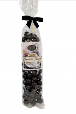 Dark Chocolate Covered Espresso Beans in Gift Bag, 125g