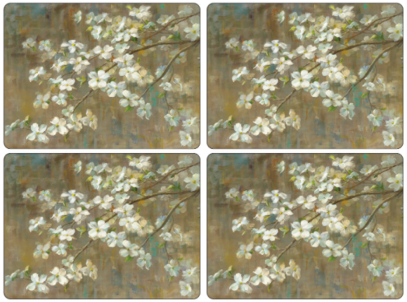 Dogwood In Spring Cork-Backed Placemats, Set of 4
